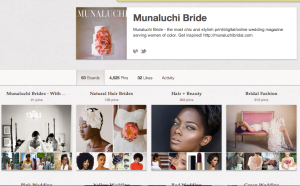 Munaluchi Bridal page is one of the coolest I've seen representing stylish images of women of color.Photo: Screenshot taken by S.Minor for A Stylish Hue 1/2013