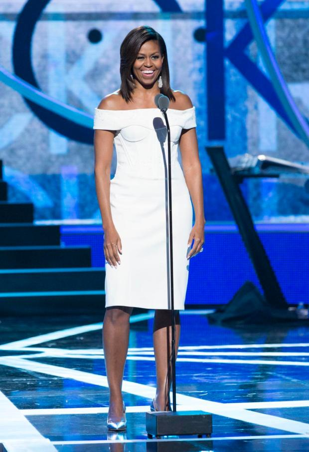 "Michelle Obama speaks at BET's 2015 ""Black Girls Rock"" at New Jersey Performing Arts Center in Newark, NJ"