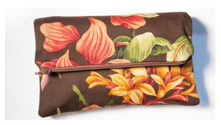 The Mayan Chocolate Envelope Clutch from 2 Pink Peas.